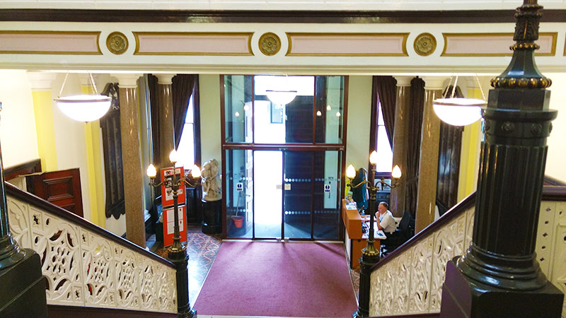 The entrance way at Macclesfield Town Hall