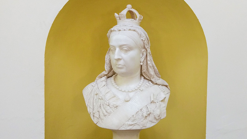 A bust of Queen Victoria
