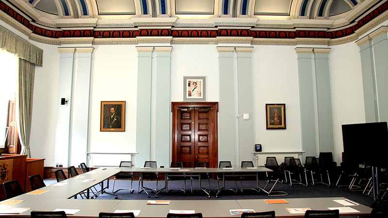Council Chamber in Macclesfield Town Hall - horseshoe layout